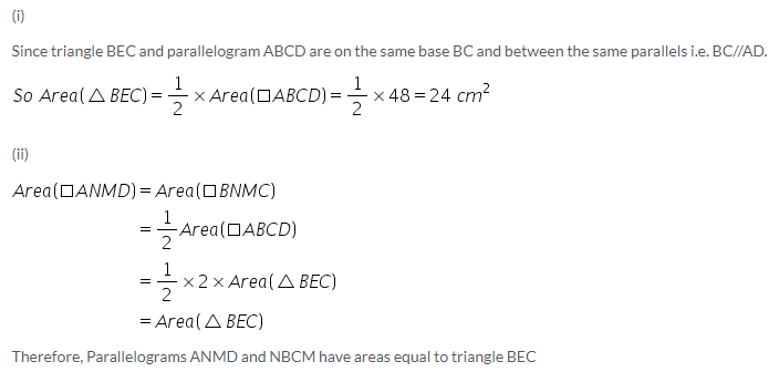 Selina Concise Mathematics Class 9 ICSE Solutions Area Theorems [Proof and Use] image -5