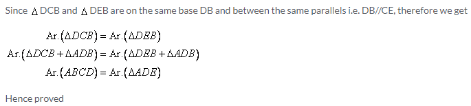 Selina Concise Mathematics Class 9 ICSE Solutions Area Theorems [Proof and Use] image -6