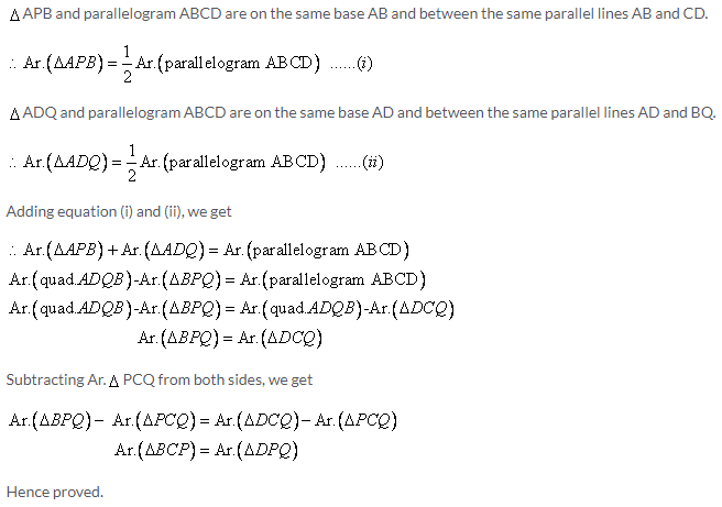 Selina Concise Mathematics Class 9 ICSE Solutions Area Theorems [Proof and Use] image -7