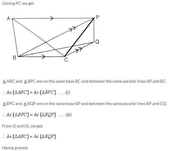 Selina Concise Mathematics Class 9 ICSE Solutions Area Theorems [Proof and Use] image -9