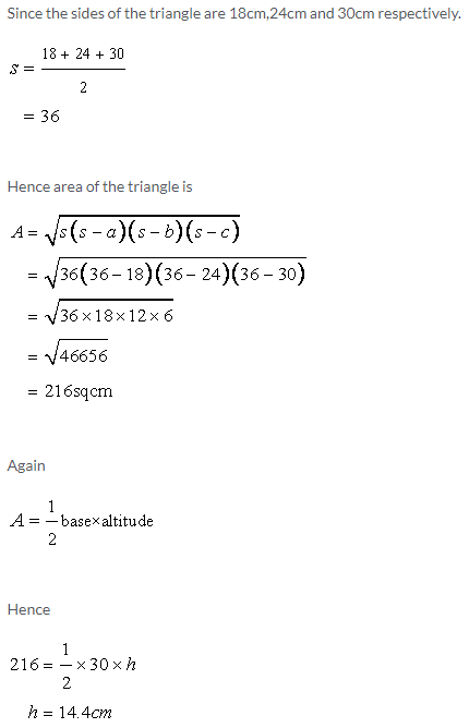 Selina Concise Mathematics Class 9 ICSE Solutions Area and Perimeter of Plane Figures image - 1