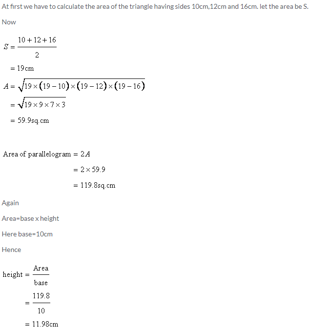Selina Concise Mathematics Class 9 ICSE Solutions Area and Perimeter of Plane Figures image - 38