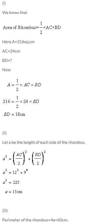 Selina Concise Mathematics Class 9 ICSE Solutions Area and Perimeter of Plane Figures image - 39