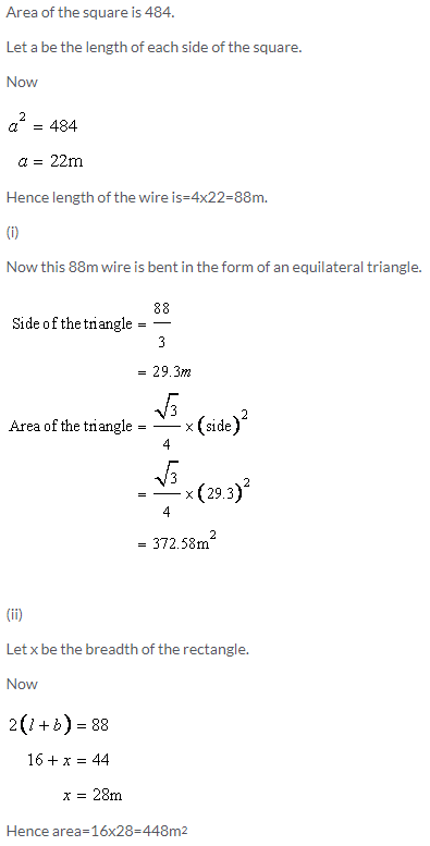 Selina Concise Mathematics Class 9 ICSE Solutions Area and Perimeter of Plane Figures image - 48