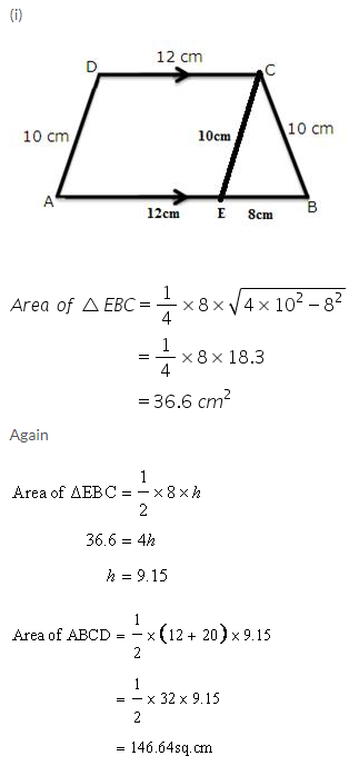 Selina Concise Mathematics Class 9 ICSE Solutions Area and Perimeter of Plane Figures image - 49