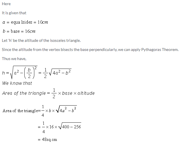 Selina Concise Mathematics Class 9 ICSE Solutions Area and Perimeter of Plane Figures image - 5