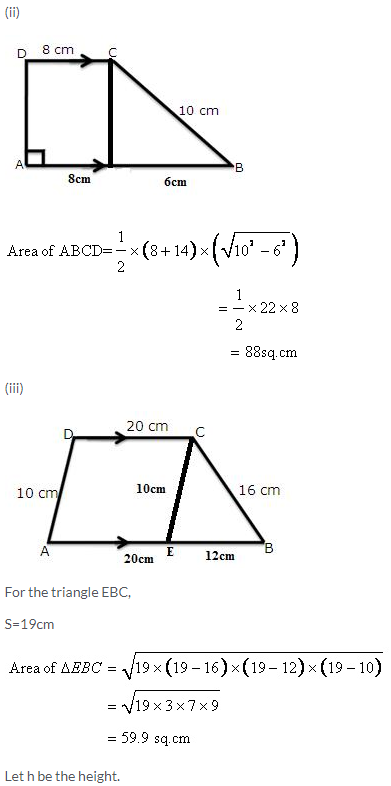 Selina Concise Mathematics Class 9 ICSE Solutions Area and Perimeter of Plane Figures image - 50