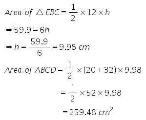 Selina Concise Mathematics Class 9 ICSE Solutions Area and Perimeter of Plane Figures image - 51