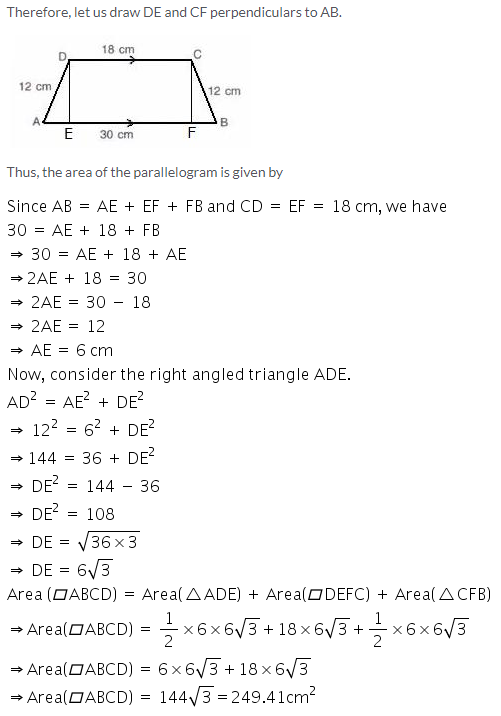 Selina Concise Mathematics Class 9 ICSE Solutions Area and Perimeter of Plane Figures image - 52