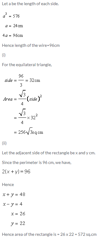 Selina Concise Mathematics Class 9 ICSE Solutions Area and Perimeter of Plane Figures image - 58