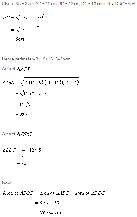 Selina Concise Mathematics Class 9 ICSE Solutions Area and Perimeter of Plane Figures image - 8