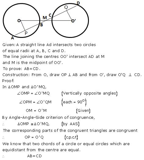 Selina Concise Mathematics Class 9 ICSE Solutions Circle image - 12