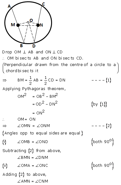 Selina Concise Mathematics Class 9 ICSE Solutions Circle image - 13