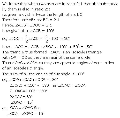 Selina Concise Mathematics Class 9 ICSE Solutions Circle image - 30