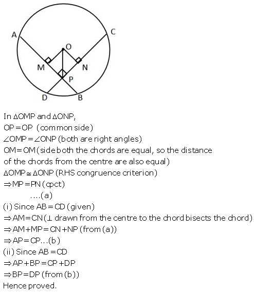 Selina Concise Mathematics Class 9 ICSE Solutions Circle image - 35