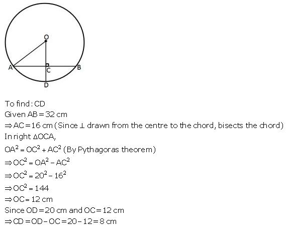 Selina Concise Mathematics Class 9 ICSE Solutions Circle image - 37