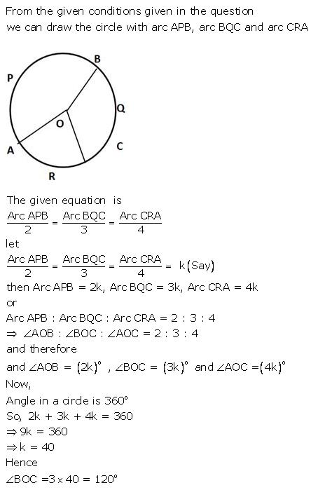 Selina Concise Mathematics Class 9 ICSE Solutions Circle image - 40