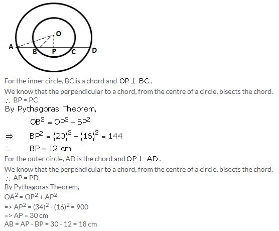Selina Concise Mathematics Class 9 ICSE Solutions Circle image - 5