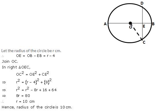 Selina Concise Mathematics Class 9 ICSE Solutions Circle image - 9