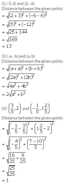 Selina Concise Mathematics Class 9 ICSE Solutions Distance Formula image - 1