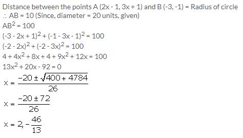 Selina Concise Mathematics Class 9 ICSE Solutions Distance Formula image - 21