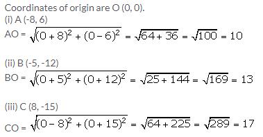 Selina Concise Mathematics Class 9 ICSE Solutions Distance Formula image - 3