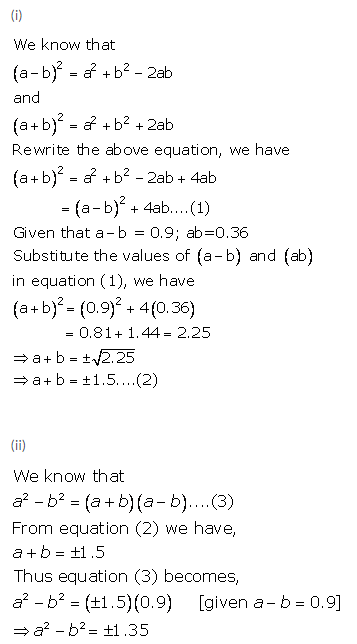 Selina Concise Mathematics Class 9 ICSE Solutions Expansions (Including Substitution) 11