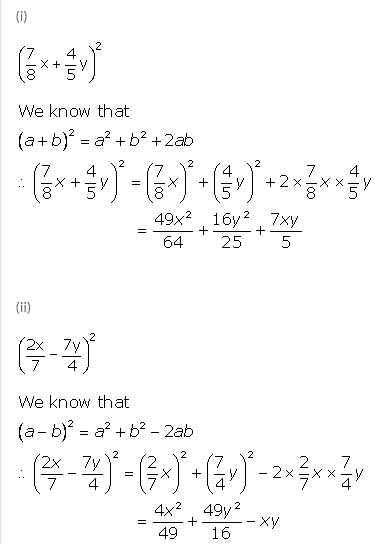 Selina Concise Mathematics Class 9 ICSE Solutions Expansions (Including Substitution) 4