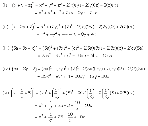Selina Concise Mathematics Class 9 ICSE Solutions Expansions (Including Substitution) 45
