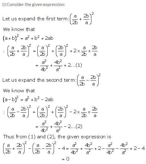 Selina Concise Mathematics Class 9 ICSE Solutions Expansions (Including Substitution) 5