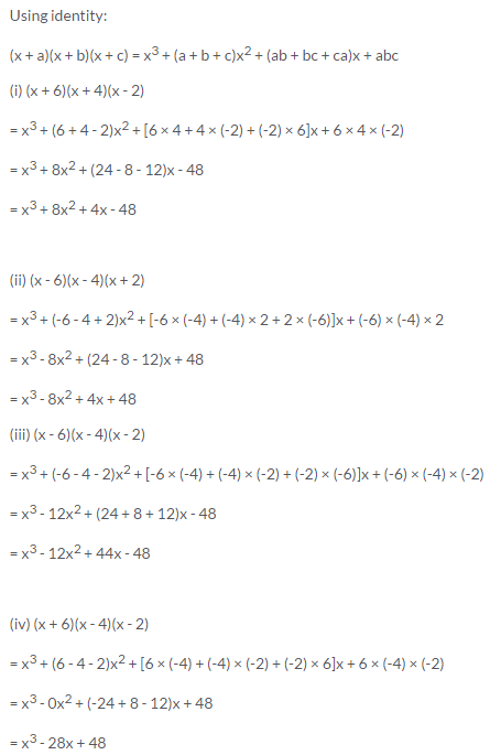Selina Concise Mathematics Class 9 ICSE Solutions Expansions (Including Substitution) 73