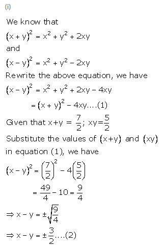 Selina Concise Mathematics Class 9 ICSE Solutions Expansions (Including Substitution) 9