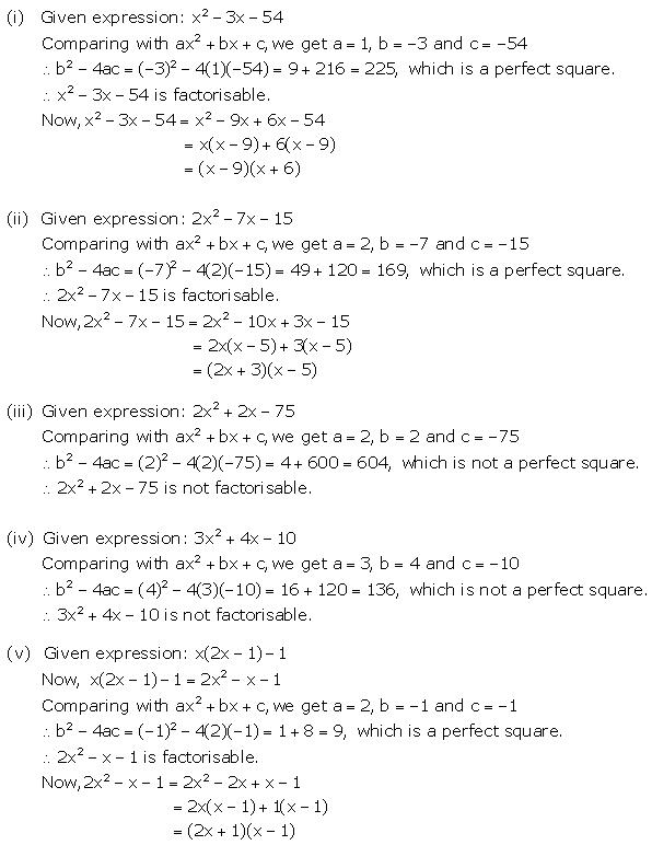 Selina Concise Mathematics Class 9 ICSE Solutions Factorisation 36