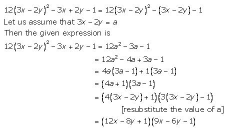 Selina Concise Mathematics Class 9 ICSE Solutions Factorisation 96