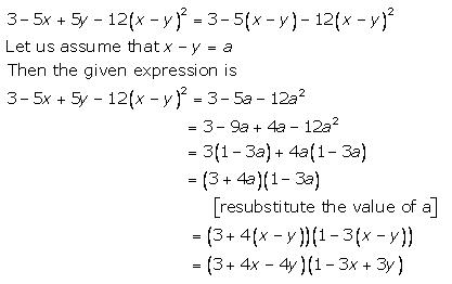 Selina Concise Mathematics Class 9 ICSE Solutions Factorisation 98