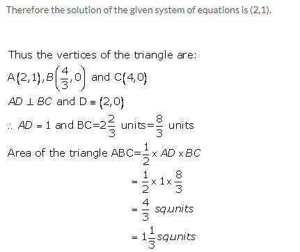 Selina Concise Mathematics Class 9 ICSE Solutions Graphical Solution (Solution of Simultaneous Linear Equations, Graphically) image - 60