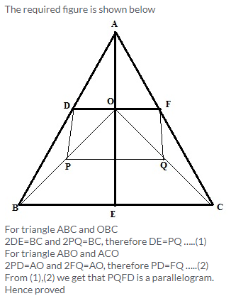 Selina Concise Mathematics Class 9 ICSE Solutions Mid-point and Its Converse [ Including Intercept Theorem] 10