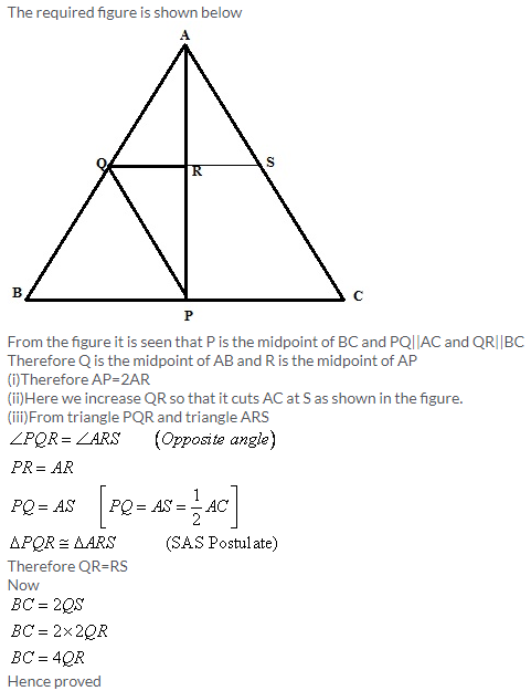 Selina Concise Mathematics Class 9 ICSE Solutions Mid-point and Its Converse [ Including Intercept Theorem] 11