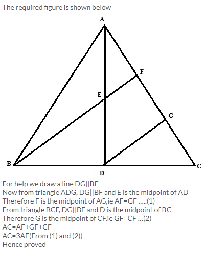 Selina Concise Mathematics Class 9 ICSE Solutions Mid-point and Its Converse [ Including Intercept Theorem] 13