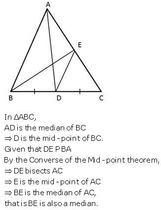 Selina Concise Mathematics Class 9 ICSE Solutions Mid-point and Its Converse [ Including Intercept Theorem] 15