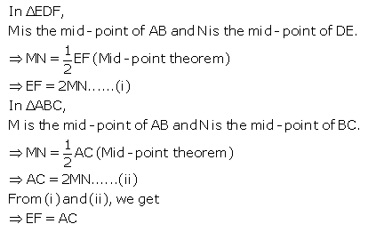 Selina Concise Mathematics Class 9 ICSE Solutions Mid-point and Its Converse [ Including Intercept Theorem] 17