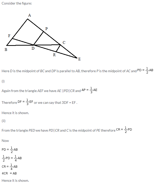 Selina Concise Mathematics Class 9 ICSE Solutions Mid-point and Its Converse [ Including Intercept Theorem] 20