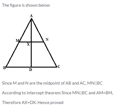 Selina Concise Mathematics Class 9 ICSE Solutions Mid-point and Its Converse [ Including Intercept Theorem] 26