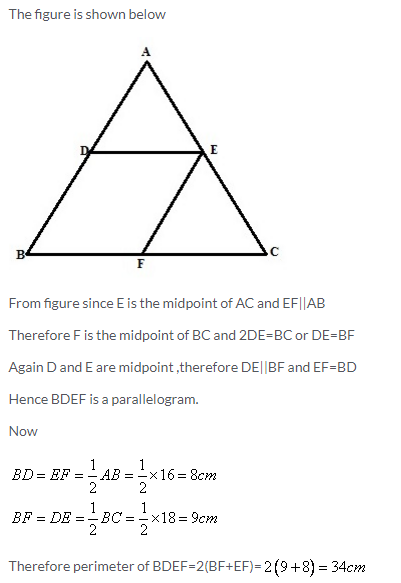 Selina Concise Mathematics Class 9 ICSE Solutions Mid-point and Its Converse [ Including Intercept Theorem] 28