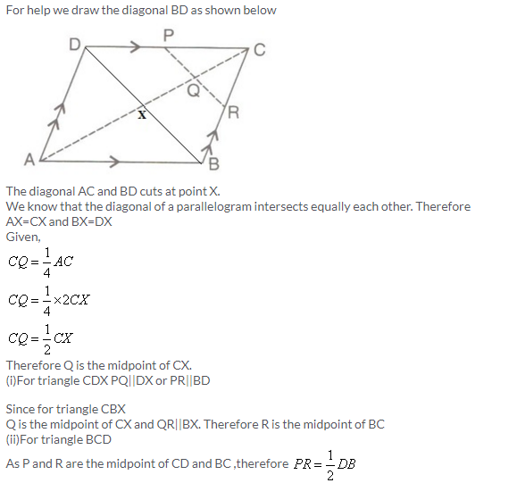 Selina Concise Mathematics Class 9 ICSE Solutions Mid-point and Its Converse [ Including Intercept Theorem] 9