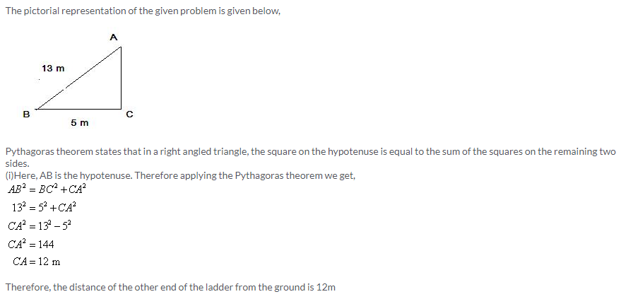 Selina Concise Mathematics Class 9 ICSE Solutions Pythagoras Theorem [Proof and Simple Applications with Converse image - 1