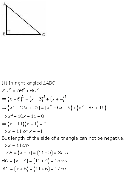 Selina Concise Mathematics Class 9 ICSE Solutions Pythagoras Theorem [Proof and Simple Applications with Converse image - 13