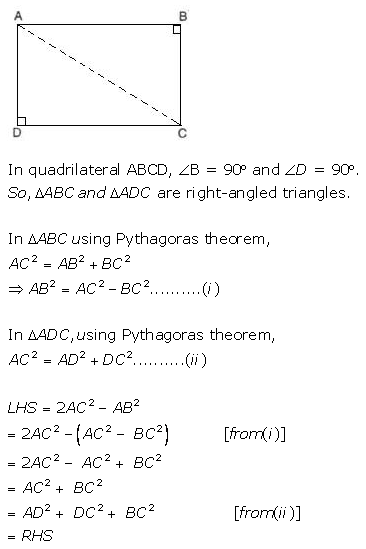 Selina Concise Mathematics Class 9 ICSE Solutions Pythagoras Theorem [Proof and Simple Applications with Converse image - 24