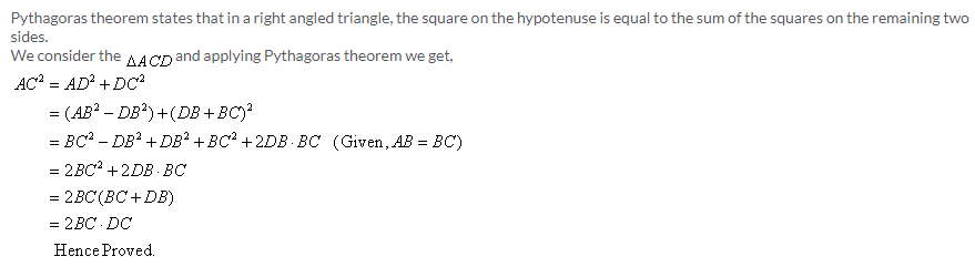 Selina Concise Mathematics Class 9 ICSE Solutions Pythagoras Theorem [Proof and Simple Applications with Converse image - 29