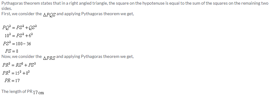 Selina Concise Mathematics Class 9 ICSE Solutions Pythagoras Theorem [Proof and Simple Applications with Converse image - 3